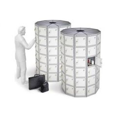 Round Pod Lockers with Six Compartments