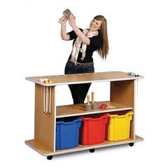 Monarch Music Trolley - 2 x Shelves and 3 x Extra Deep Storage Trays