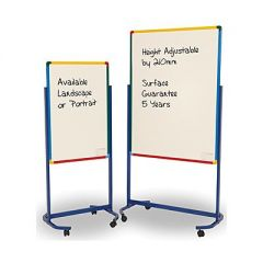Junior Mobile Writing Boards / Whiteboards - Double Sided