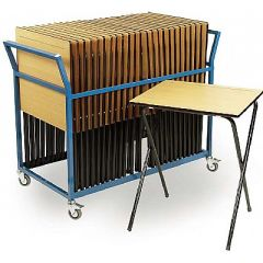 Great Value Exam Bundle Deal - 25 Exam Desks and Exam Trolley
