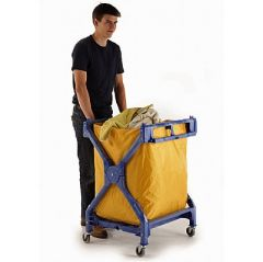 70 kgs Folding Laundry Trolley with PVC Sack