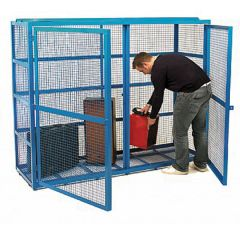 Security Lock up Cages - In Use
