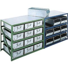 Steel Counter Bench Units for 150mmn high Tote Pans and Vista Bins