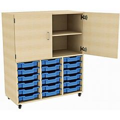 18 Tray Combi-Store Unit with High Cupboard