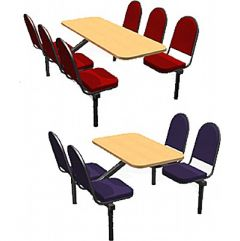 Restaurant Seating with Large Fabric Padded Seats