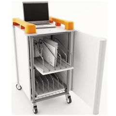 LapCabby Vertical Laptop Storage Trolley - 10 Port
