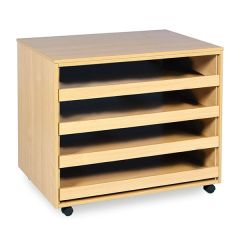 Monarch A1 Paper Storage Rack with 4 Sliding Drawers