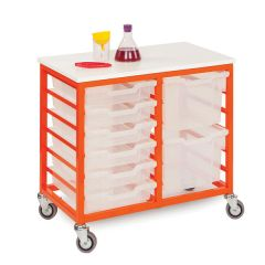 Mobile Metal Tray Storage Units with 6/12 Trays