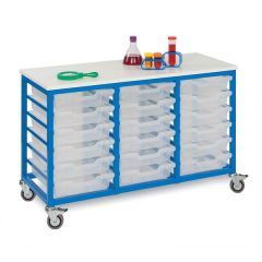 Monarch Mobile Tray Unit with 18 Shallow Trays (3 x 6)
