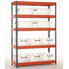 TUFF Shelving Kit with Storage Containers