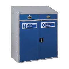 PPE Workstation with Two Drawers and Sloping Top