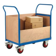 Fully Welded Platform Truck with Plywood Sides - 350kg