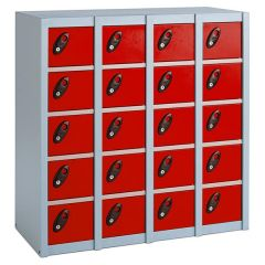 Probe Minibox Lockers - 20 Compartment - Red