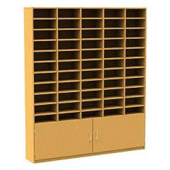 55 Compartment Pigeonhole Unit with Cupboard