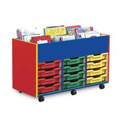 6 Bay Monarch Colourful Kinderbox Tray Storage Unit - mobile
