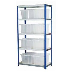 Eco-Rax Topbox Shelving and Storage Kits with 8 x 35 Litre Boxes