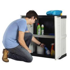 Compact Plastic Storage Cupboard