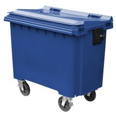 4 Wheeled Flat Top Wheelie Bin - 1100 Litre