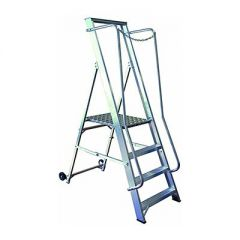 Aluminium Wide Mobile Folding Steps - BS2037 Class 1