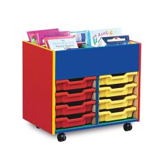 8 Tray Monarch Colourful Tray Storage Unit - mobile