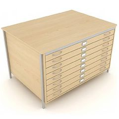 A0 Square Frame Plan Chest with Drawers