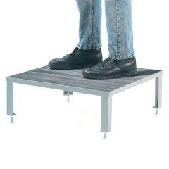Adjustable Steel Work Platforms - Non-Slip Phenolic