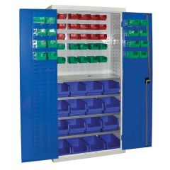 Armour Container Cupboard with 57 Bins