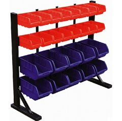 Bin Racks with Polypropylene Storage Bins