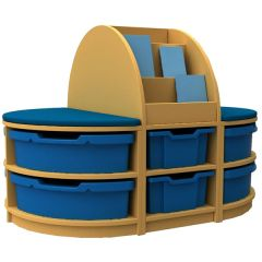 Book and Seat Islands - 1 Tray High