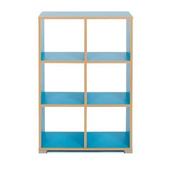Bubblegum 6 Cube Backless Classroom Divider (Vertical)