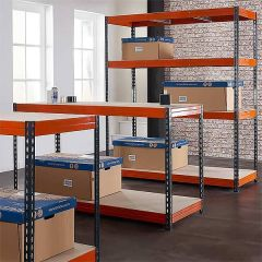 TUFF Longspan 450KG 450mm Shelving and 600mm Workbench Bundle Deal