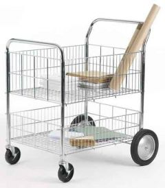 120 kgs Chrome Plated Wire Tray Trolley