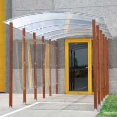 Wooden Frame Covered Walkway