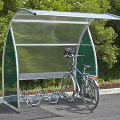 Curved Modular Cycle Shelter