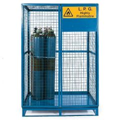 Cylinder Storage Lock-Up Cages - Painted