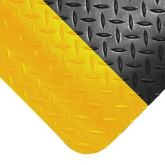 Deckplate Diamond Safety Mat Yellow Edge