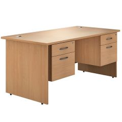 Valoir Panel End Double Pedestal Desks
