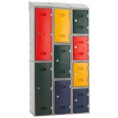 eXtreme Plastic Lockers showing unique configuration and storage options
