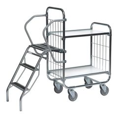 Flexible Ladder Trolleys - 2 Shelf