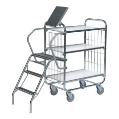 Flexible Ladder Trolleys - 3 Shelf