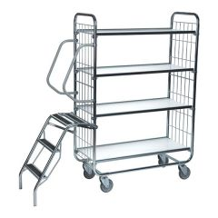 Flexible Ladder Trolleys - 4 Shelf