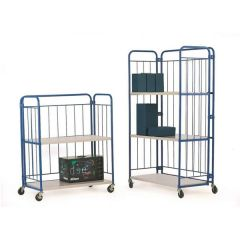 Folding Roll Container Shelf Trolleys