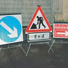 Folding Traffic Signs - Easy to Store and Simple to Deploy