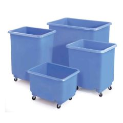 Glass Fibre Container Trolleys with Hinged Lids
