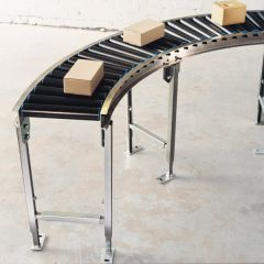 Gravity Roller Conveyor - Track Bend