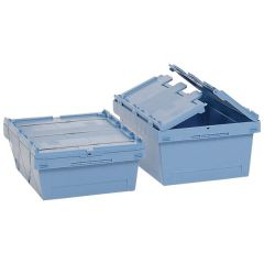 Hinged Lid Containers for Seal Strapping