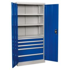 Sealey Industrial Cabinet - 5 Drawers & 3 Shelves