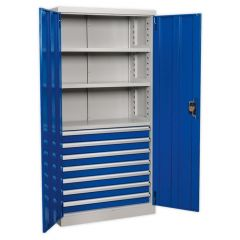 Sealey Industrial Cabinet with 7 Drawers & 3 Shelves