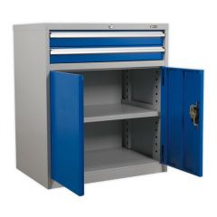 Industrial Cabinet - 2 Drawers & Cupboard