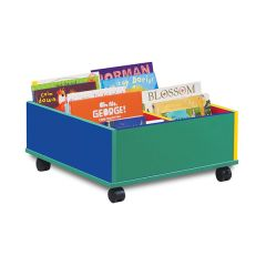 4 Bay Monarch Kinderbox Colourful Tray Storage Unit - Mobile
